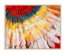 Load image into Gallery viewer, Framed Canvas - Tribal Feathers 80 x 100
