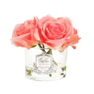 Côte Noire Perfumed Natural Touch 5 Roses in Clear - White Peach