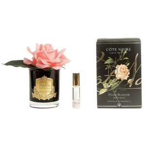 Côte Noire Perfumed Natural Touch Rose in Black - White Peach