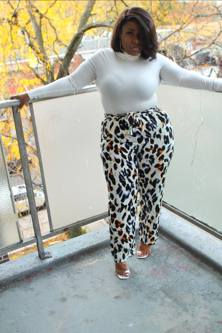 Self-Tie Leopard Pants-Apparel-Different Type Of Dope