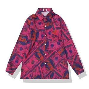 Money Makin Mimi Oversized Button Down Top-Apparel-Different Type Of Dope