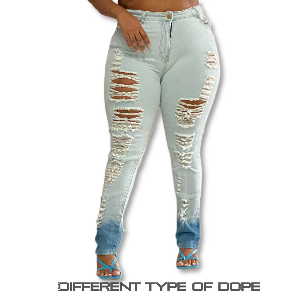 Destroyer Ripped Denim Jeans-Apparel-Different Type Of Dope