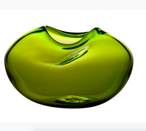 Pebble vase lime green