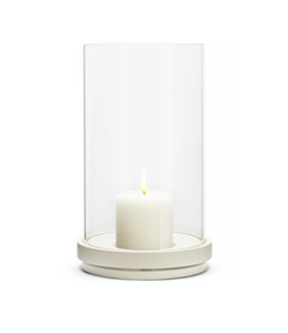 NEW candle holder white lacquered