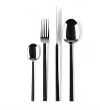 Load image into Gallery viewer, Cutlery with 5 prong fork / set of 4 x 6 pieces each