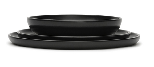 Tableware VVD - set black dinnerware