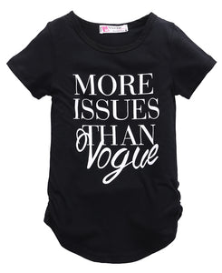 Kids Slogan Tee More Issues Than Vogue