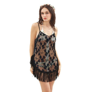 Women's Hand-Crochet Cover Up Dress - Paradise Daze