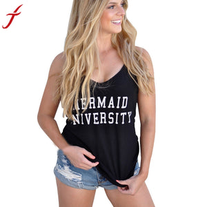 Mermaid University Slogan Vest - Paradise Daze