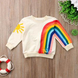 Kids Rainbow Tassel Sweatshirt