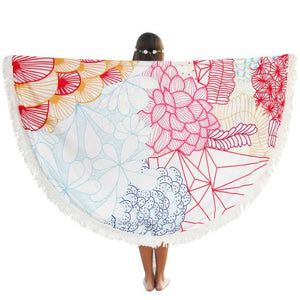 Circular Print Boho Beach Cover Up Towel - Paradise Daze