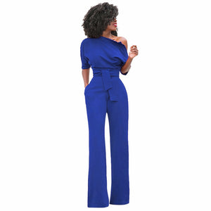 One Shoulder Bodycon Jumpsuit