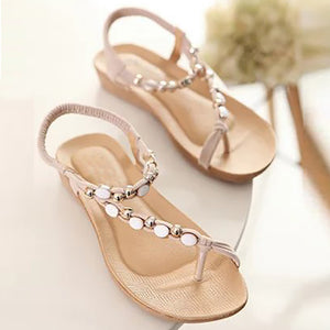 Women's Flat Beaded Boho Sandals - Paradise Daze