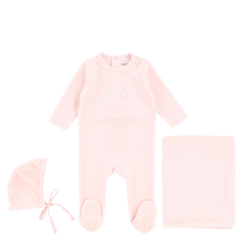 Soft Pink Velour Layette Set