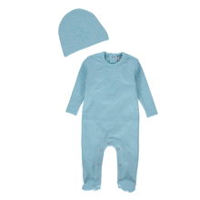Teal Star Footie and Beanie