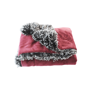 Merlot Shaggy Plush Blanket