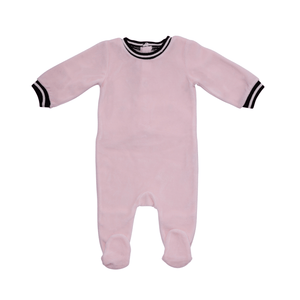 Pink Retro Sport Stripe Footie