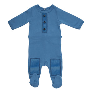 Blue What A Patch Layette Set