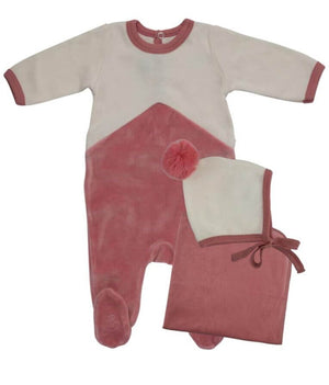 Blush Geo Stripe Layette Set