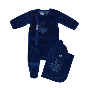 Blue Hug In A Mug Layette Set