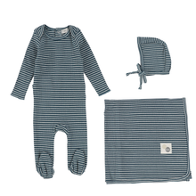 Blueberry Striped Layette Set