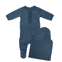Teal What A Patch Layette Set