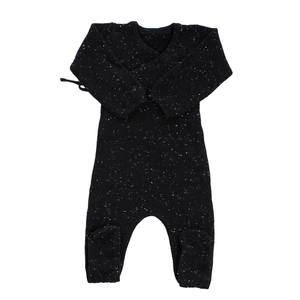 Black Knit Wrap Footie