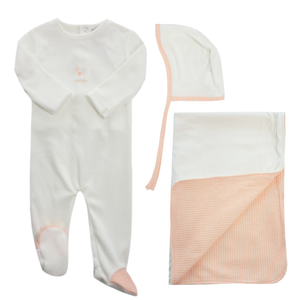 Pink Bunny Layette Set