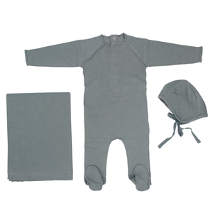 Seafoam Ribbed Layette Set