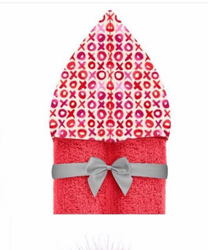 Hot Pink XOXO Hooded Towel