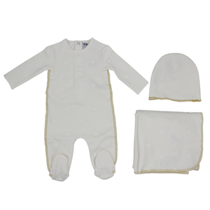 White Star Embossed Layette Set