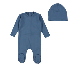 Denim Modal Footie and Beanie