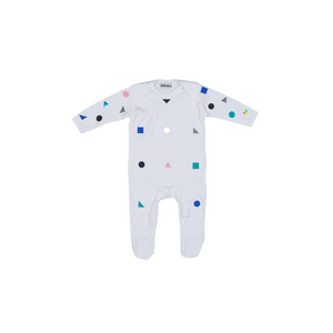 White Polka Shape Footie