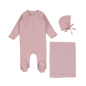 Orchid Ribbed Layette Set