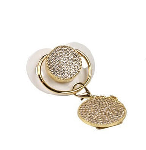 Gold Swarovski  Crystal Pacifier Set
