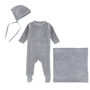Grey Bebe Layette Set