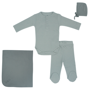 Pale Blue Layette Set