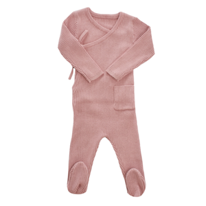 Pink Knit Wrap Footie