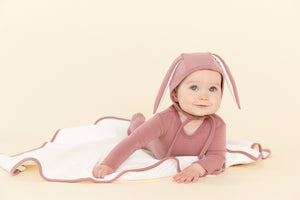 Blush Quilted Detail Layette Set
