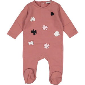 Rose Pink Ribbon Footie