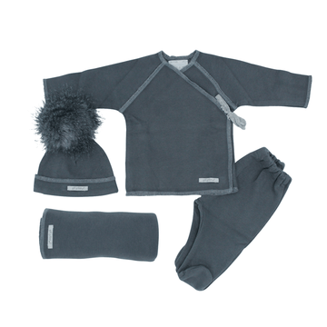 4 Piece Grey Baby Set