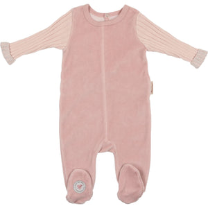 Pink French Trim Footie
