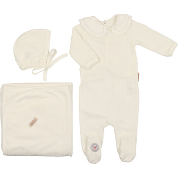 Ivory Tiered Collar Layette Set