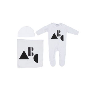 White ABC Layette Set