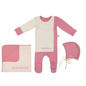 Dusty Mauve Speckled Layette Set