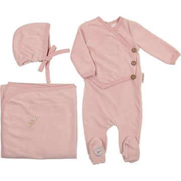 Light Rose Victorian Wrap Layette Set