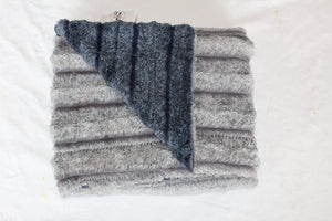 Grey Chambray Plush Blanket