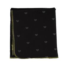 Black Heart Embossed Blanket