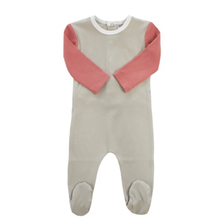 Taupe Pink Colorblock Footie