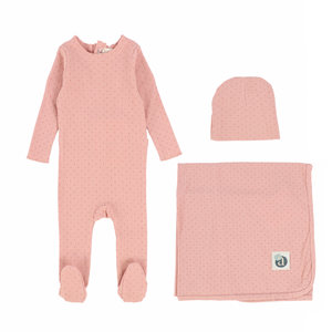 Pink Dot Layette Set